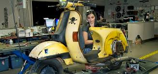 Featured Salton Sea Raventurous Vespa Race Scooter Lambretta Repair Modification Modified Vintage