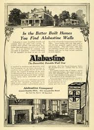 This is an original 1911 black and white print ad for Alabastine