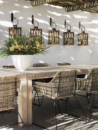 Awesome Design Of The Rustic Outdoor Furniture With White Wall Added Young Brown Wooden Table