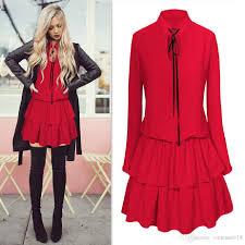 2017 long sleeve dress vintage dress women party dresses short