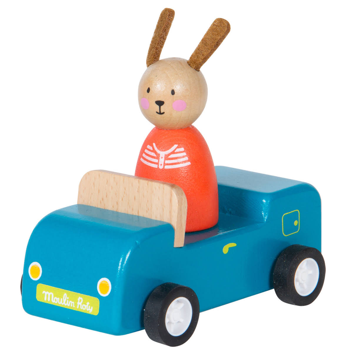 Moulin Roty The Big Family Wooden Car - Blue