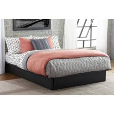 Platform Bed Frames by Maven Upholstered Faux Leather Platform Bed Black Multiple Sizes
