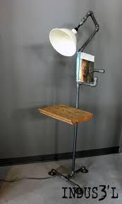 Rustic Industrial Pipe Floor Lamp