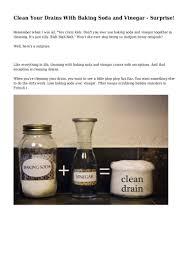 Bathtub Drain Clog Baking Soda Vinegar by Clean Your Drains With Baking Soda And Vinegar Surprise