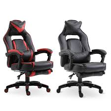 Details About High Back Gaming Chair Ergonomic Computer Seat Lumbar Support  W/ Footrest