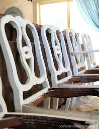Dining Table Makeover Take One Confessions Of A Serial Do It Painted Room Painting Chairs With Old White Chalk Paint