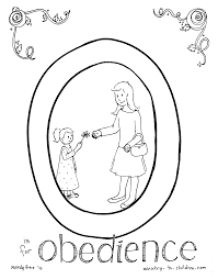 Obedience Coloring Pages For Children
