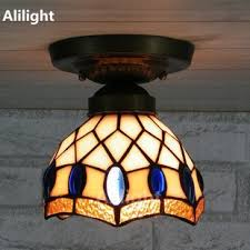 ceiling light brief stained glass hanging l for kitchen