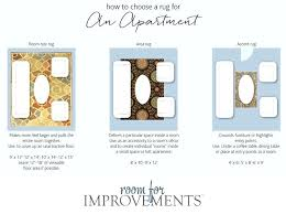 Rug Sizes Chart Area Selecting The Best Size For Your Space Improvements