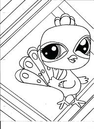 Littlest Pet Shop Peacock Coloring Pages For Kids Printable To Print Free Pictures