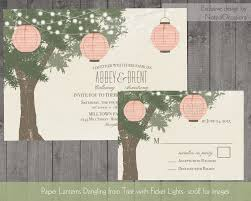 Paper Lanterns Wedding Invitations Tree With Twinkle Lights