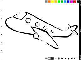 Vehicle Coloring Book For Children Learn To Color A Car Train Plane