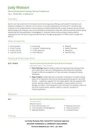 Resume Profiles For Customer Service