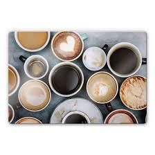 glasbild kaffee variationen