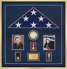 Custom Display Case Example For A Burial Size Flag