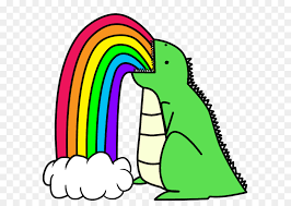 Vomiting Rainbow Dinosaur Color Nose
