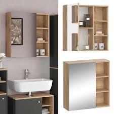 vicco spiegelschrank senyo goldkraft sonoma eiche spiegel badmöbelset badspiegel