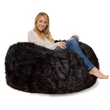 100 Furry Bean Bag Chairs For S Amazoncom Comfy Acks 4 Ft Memory Foam Chair Black