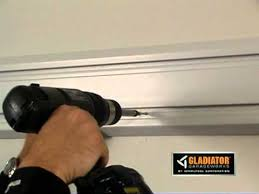 Gladiator Wall Mount Cabinet by Gladiator How To Install Geartrack Channels Youtube