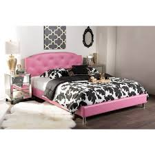 Baxton Studio Canterbury Contemporary Hot Pink Faux Leather Queen