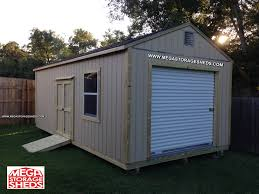 Metal Storage Shed Doors by Mega Storage Sheds Options Roll Up Doors