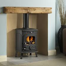installing a wooden mantel above a wood burning stove