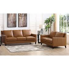 100 2 Sofa Living Room West Park Piece Top Grain Leather Set Loveseat