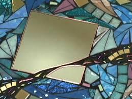 how to make a contemporary glass mosaic mirror hgtv