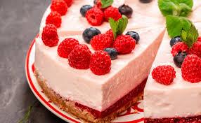 ohne backen veganer himbeer cheesecake