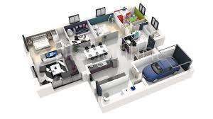 plan de maison gratuit 4 chambres construction de maison 3d plans 2 et 3d homewreckr co scarr co avec