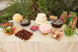 Casual Outdoor Wedding Assorted Dessert Table