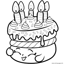Print Cake Wishes Shopkins Season 1 From Coloring Pages
