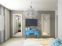 moderne innenausstattung 3d render wohnzimmer exklusives design