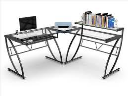 L Shaped Computer Desk by Corner Gaming Computer Desk Throughout Z Line Belaire Glass Desk