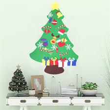 100cm Diy Christmas Deluxe Felt Tree Wall Hanging Toddler Child
