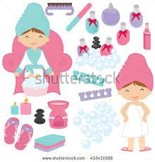 Illustration Of Little Girls Being Pampered