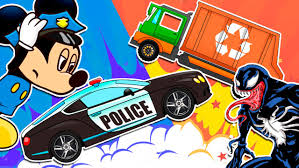 Mickey Mouse Police Car Vs Venom Garbage Truck Vehicles For Kids ... Kids Truck Video Fork Lift Youtube Dump The Super And Street Vehicles Cars Trucks Cartoon For Edge Pictures For Binkie Tv Learn Numbers Garbage Videos Trucks Archives Five Little Spuds Sweeper Emergency Rescue Learning Names Monster Children Collection Wash Stylist How To Draw A Fire Coloring Page 2019 Pin By Ircartoonstv On Excavator Car Best Of Bruder 2017 Video About Educational