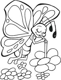 Butterfly Coloring Pages For Toddlers Cute Kids