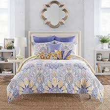 Anthologyreg Lyla Blue Floral Paisley Reversible Comforter Set
