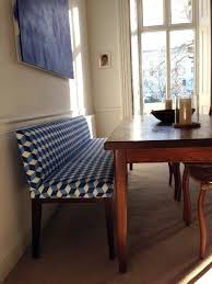 With Different Fabric Padded Dining Bench Low Back