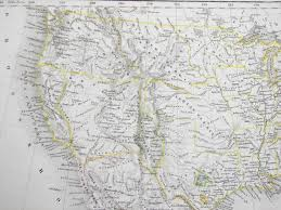 1850 Map Of The Western United States