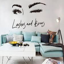 großhandel lange wimpern wandaufkleber kunst decals wohnzimmer sofa schlafzimmer wand hintergrund dekorationen aufkleber tapete wandbild