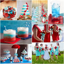Beautiful Blue And Red Wedding Ideas