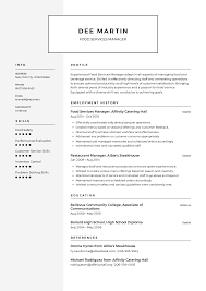 Food Services Manager Resume Templates 2019 (Free Download ... 85 Hospital Food Service Resume Samples Jribescom And Beverage Cover Letter Best Of Sver Sample Services Examples Professional Manager Client For Resume Samples Hudsonhsme Example Writing Tips Genius How To Write Personal Essay Scholarships And 10 Food Service Mplates Payment Format 910 Director Mysafetglovescom Rumes