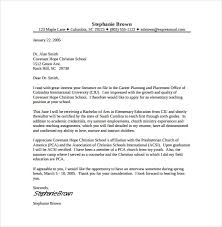 Sample Teacher Cover Letter Template Free Cover Letter Template For