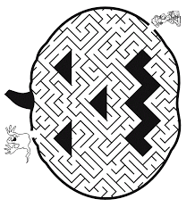 Halloween Pumpkin Maze Printable Coloring Pages