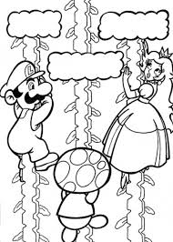Super Mario Princess Peach Coloring Pages