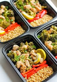 Chinese Lemon Chicken Meal Prep Bowls