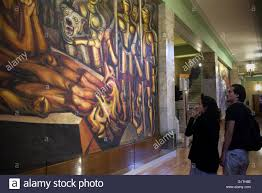 David Alfaro Siqueiros Murales Bellas Artes by Mexico City 17th May 2016 Image Taken On May 17 2016 Shows