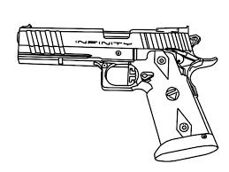 Gun Coloring Pages Pistol